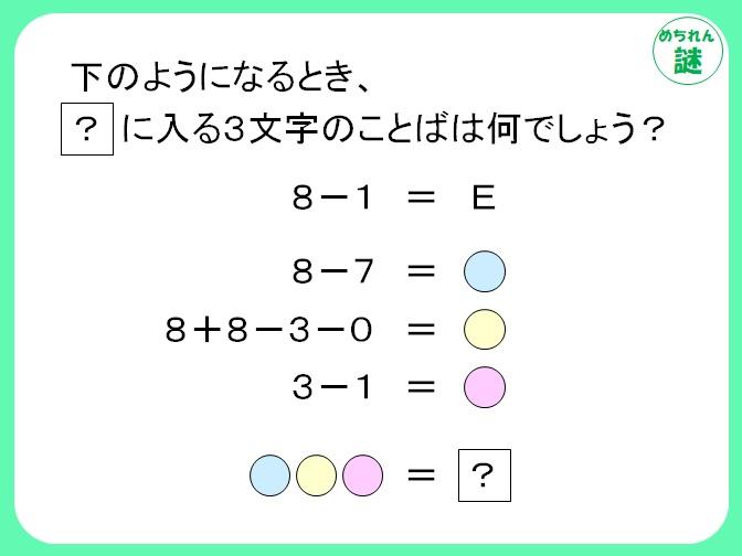 暗号謎解き 数式の意味を考えて答えにたどり着け!