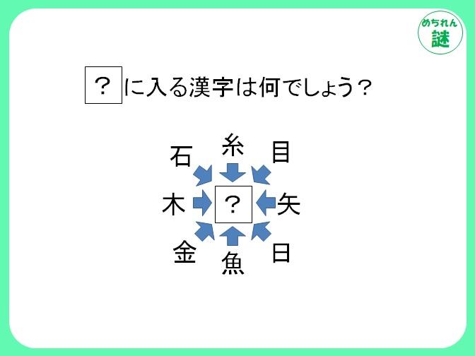 和同開珎謎解き 真ん中の?に向かって伸びる矢印がたくさん!?和同開珎を解け!