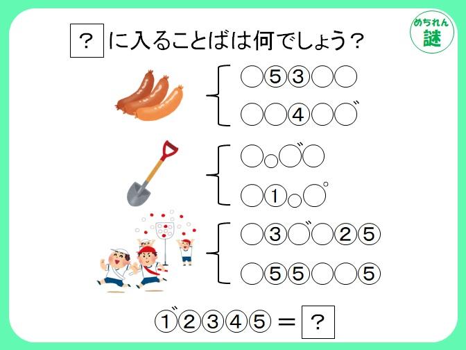 イラスト謎解き イラストを表す言葉は2通りある?それぞれの言葉を導き出し、答えにたどり着け!