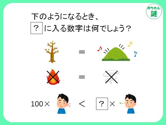 イラスト謎解き イラストが等号や不等号で繋がれている意味とは?ひらめきで謎を解き明かせ!